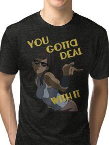 LoK - Korra Deal With It Tri-blend T-Shirt