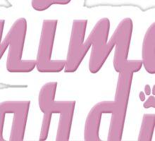 animal guardian - animal cruelty, vegan, activist, abuse Sticker