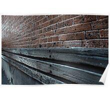 Brick, Wood & Mortar Poster