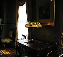 Historic Tiffany Lamp in Shadows and Light by Jane Neill-Hancock