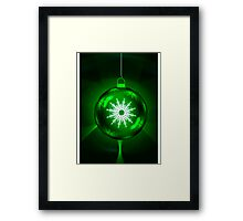 Green Christmas Decoration Ball Framed Print