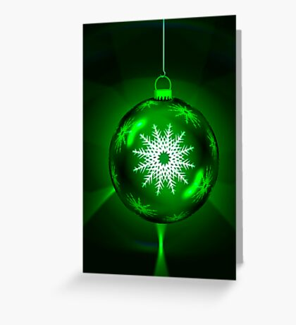 Green Christmas Decoration Ball Greeting Card