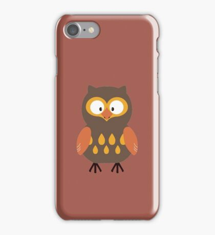 Brown Pumpkin Owl iPhone Case/Skin