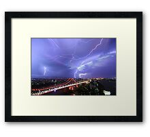 Multiple Exposure | Lightning IV Framed Print