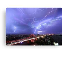 Multiple Exposure   Lightning IV Canvas Print