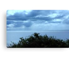 Shining blue Canvas Print