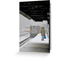 Missed Train Greeting Card