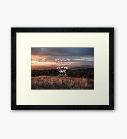 The greatest adventure 4 Framed Print