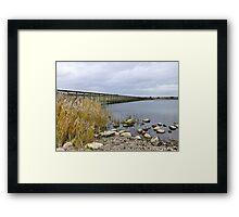 Fleetwood Nature Reserve. Framed Print