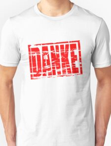 Danke red rubber stamp effect T-Shirt