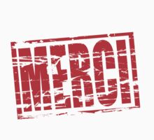 Merci red rubber stamp effect by stuwdamdorp
