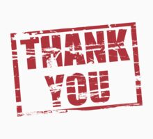 Thank you red rubber stamp effect by stuwdamdorp