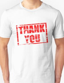Thank you red rubber stamp effect T-Shirt