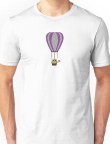 Owl in hot-air balloon with a lollipop Unisex T-Shirt