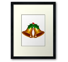 Bells with Holly Framed Print