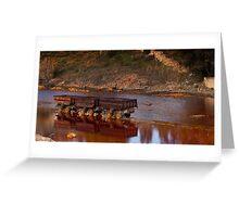 abandoned mineral wagons Greeting Card