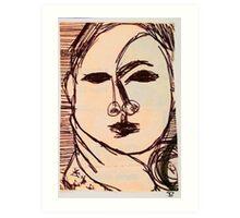 portrait of suzi wong Art Print
