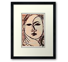 portrait of suzi wong Framed Print