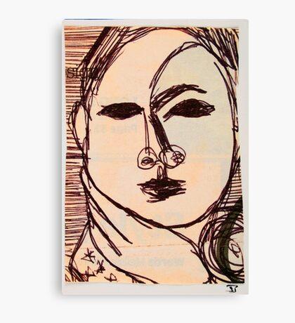portrait of suzi wong Canvas Print