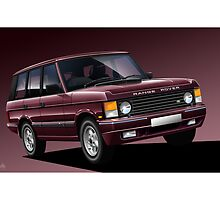 Range Rover Classic Poster Illustration by Autographics