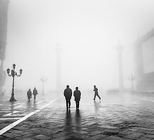 Fog In San Marco, Venice, Italy by Andy Parker