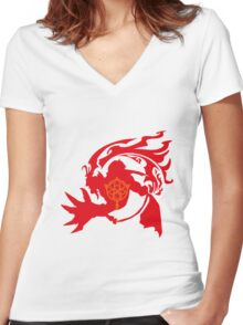 The Ancient Summoner Women's Fitted V-Neck T-Shirt