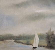 Sailing on the River by Alexandra Lavizzari