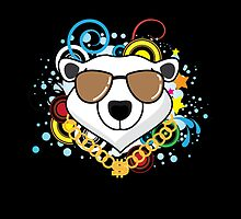 Funny Hip-Hop Polar Bear by thejoyker1986
