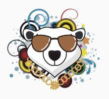 Funny Hip-Hop Polar Bear One Piece - Short Sleeve