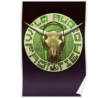 Wild Audio Frontier Headphone MP3 Cattle Skull Graphic Poster