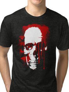 blood skull Tri-blend T-Shirt