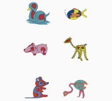 Puzzle animal stickers by missmoneypenny