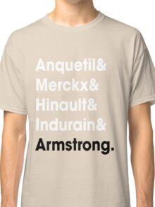 5 Times Tour Winners (White) Classic T-Shirt