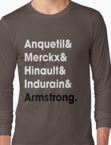 5 Times Tour Winners (White) Long Sleeve T-Shirt