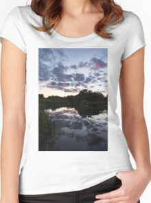 Soft Summer Semidarkness - Reflecting on Colorful Skies Women's Fitted Scoop T-Shirt