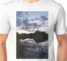 Soft Summer Semidarkness - Reflecting on Colorful Skies Unisex T-Shirt