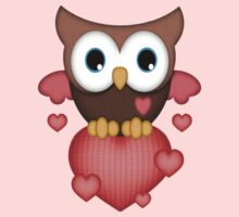 Owl in Love .. tee shirt by LoneAngel