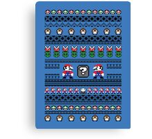 Super Mario Sweater Canvas Print