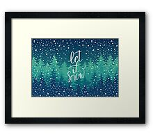 Let it snow hand lettering Framed Print
