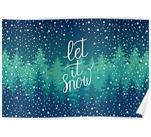 Let it snow hand lettering Poster