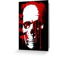 blood skull Greeting Card