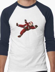 Christmas Santa Space Man Astronaut in Orbit Men's Baseball ¾ T-Shirt