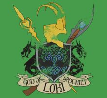 God of Mischief Crest - distressed by andirobinson