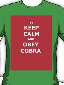 Keep Calm and Obey Cobra sticker alternative T-Shirt