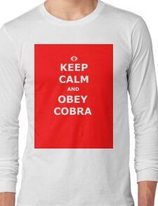 Keep Calm and Obey Cobra sticker alternative Long Sleeve T-Shirt