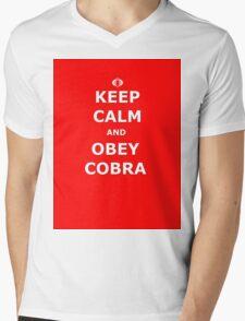 Keep Calm and Obey Cobra sticker alternative Mens V-Neck T-Shirt
