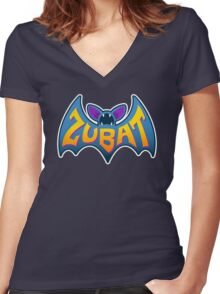 ZUBATMAN Women's Fitted V-Neck T-Shirt