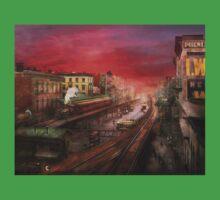 City - NY - Rush hour traffic - 1900 Kids Tee