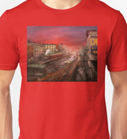 City - NY - Rush hour traffic - 1900 Unisex T-Shirt