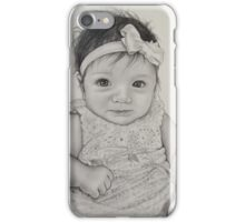 Little girl with bow in her hair  iPhone Case/Skin